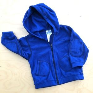 Patagonia fleece zip with pockets and hood